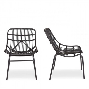 Lot de 2 chaises indoor/outdoor résine tressée Yoan