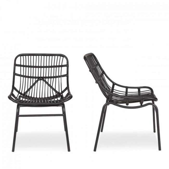 Lot de 2 chaises indoor/outdoor résine tressée Yoan