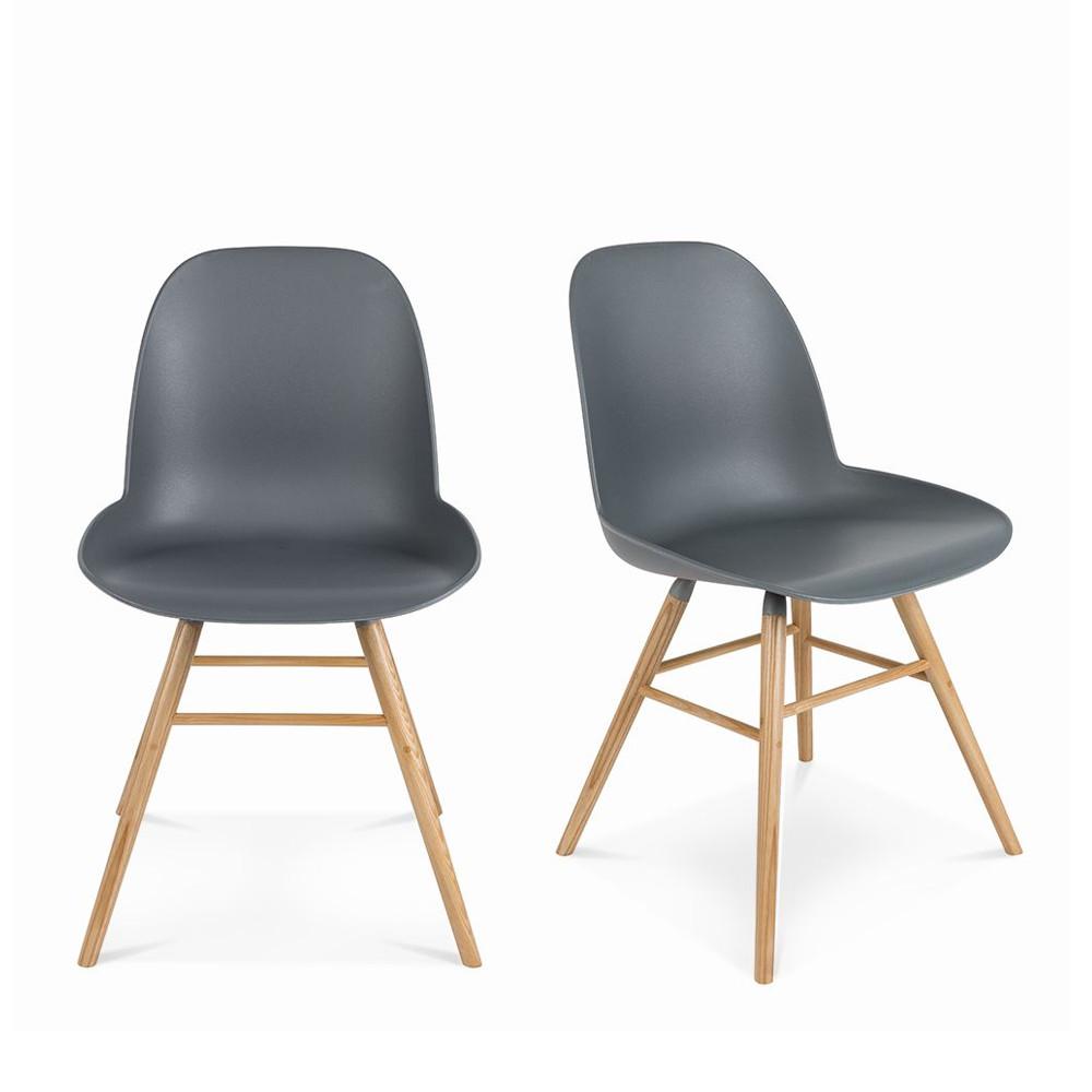 lot de 2 chaises r sine et bois albert kuip zuiver. Black Bedroom Furniture Sets. Home Design Ideas