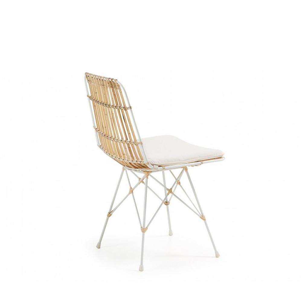 Comment Nettoyer Des Chaises En Plastique Blanc 2 chaises scandinaves rotin et métal blanc - ainisa