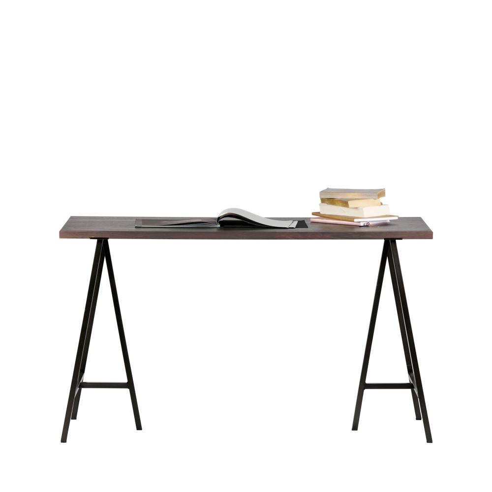 bureau design en pin massif bross aron drawer. Black Bedroom Furniture Sets. Home Design Ideas