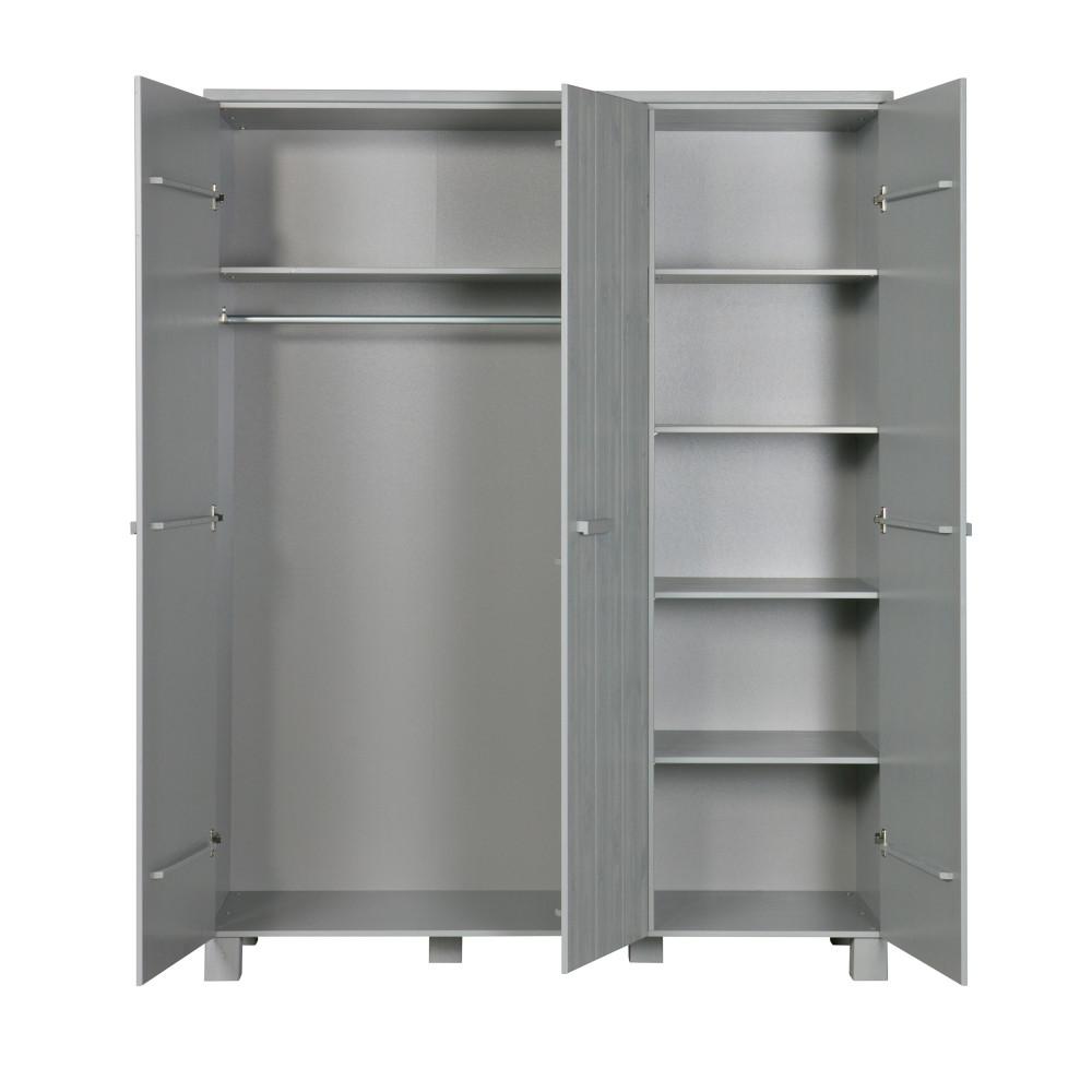 armoire pin bross 3 portes denis drawer. Black Bedroom Furniture Sets. Home Design Ideas