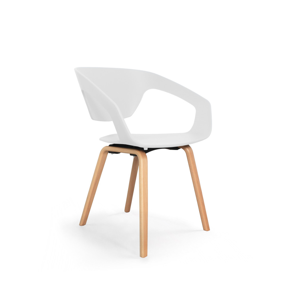 Chaises design blanche top lot chaises design scandinave for Chaise design blanche
