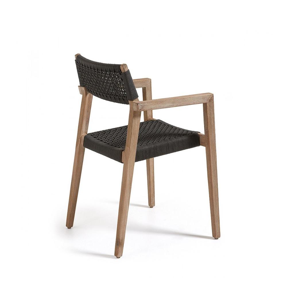 fauteuil de jardin en bois massif style contemporain. Black Bedroom Furniture Sets. Home Design Ideas