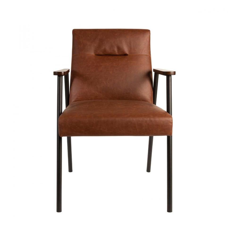 fauteuil vintage marron fez par drawer. Black Bedroom Furniture Sets. Home Design Ideas