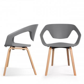 Lot de 2 chaises design scandinave Danwood blanche