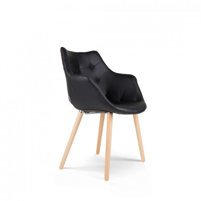chaise lounge simili cuir Twelve Skin noire de Zuiver