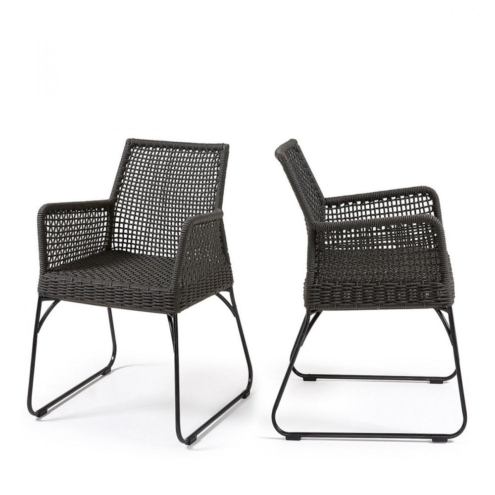 fauteuil de jardin m tal et polyester kavon by. Black Bedroom Furniture Sets. Home Design Ideas