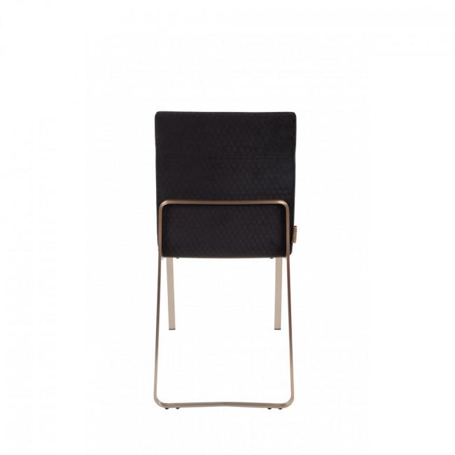 Lot de 2 chaises vintage tissu et métal Flor