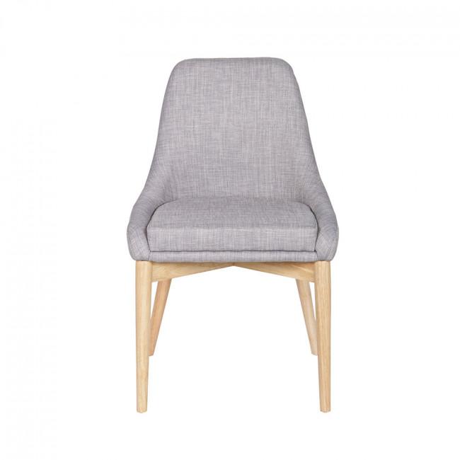 Chaise design tissu et bois avec coussin Kobe