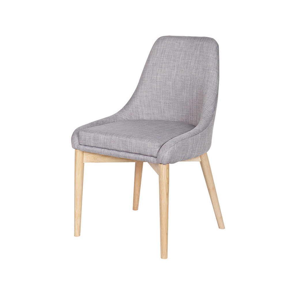 Chaise Design Tissu Et Bois Avec Coussin Kobe By Drawer