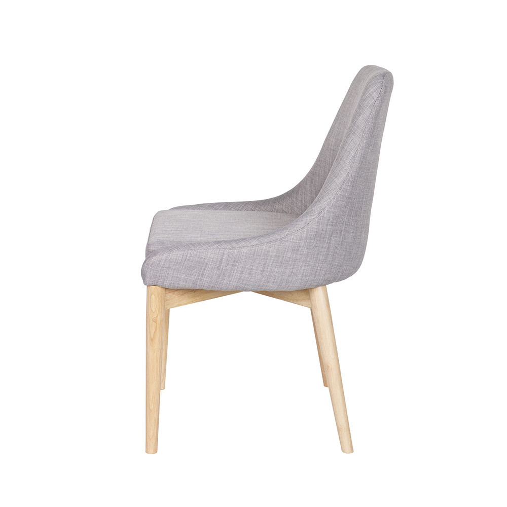 chaise design tissu et bois avec coussin kobe by drawer. Black Bedroom Furniture Sets. Home Design Ideas
