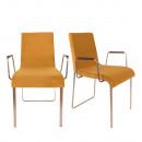 Lot de 2 fauteuils vintage tissu et métal Flor