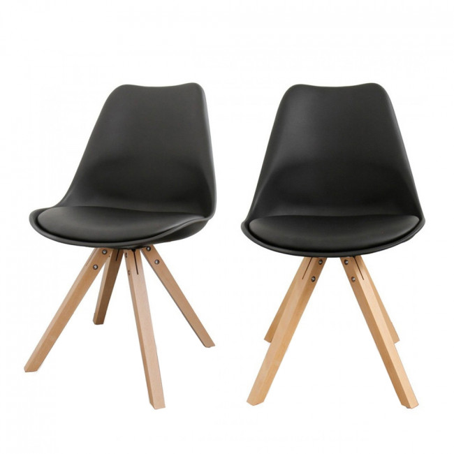 Lot de 2 chaises design Ormond Wood