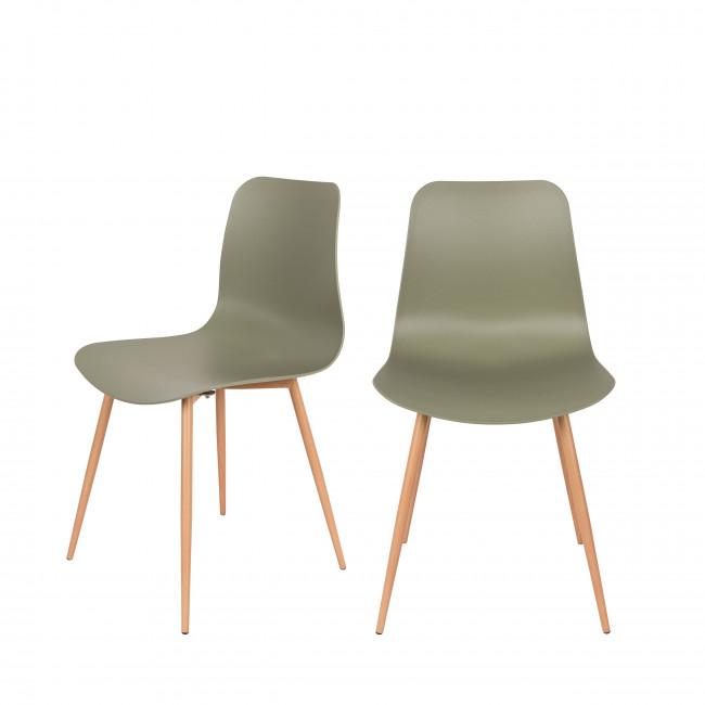 Lot de 2 chaises en résine Leon