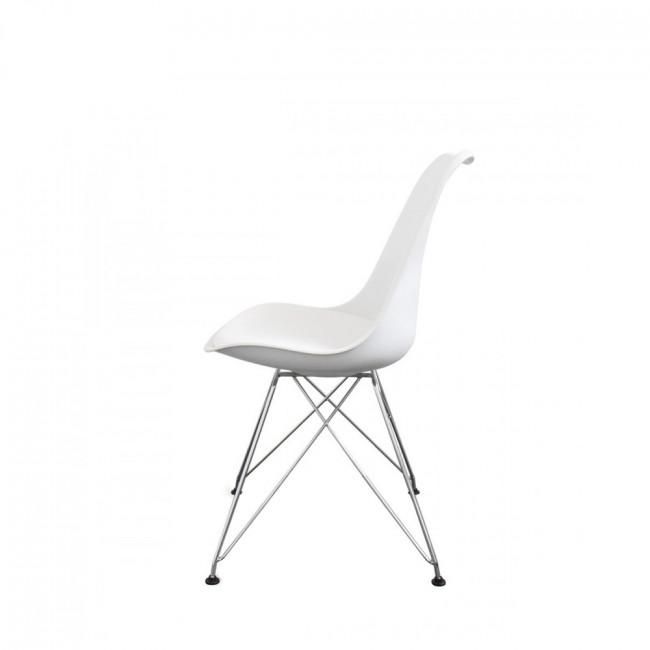 Lot de 2 chaises design Nielsen Steel blanc