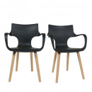 Lot de 2 chaises design Rockwood blanches