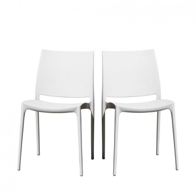 Lot de 2 chaises design Tessa blanche