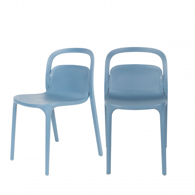 Lot de 2 chaises en résine Rex
