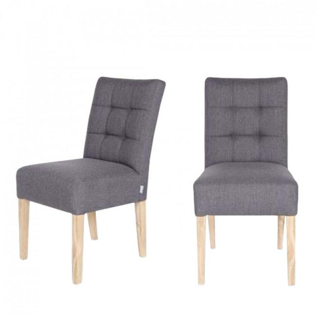 Lot de 2 chaises capitonnées Pauwel  gris