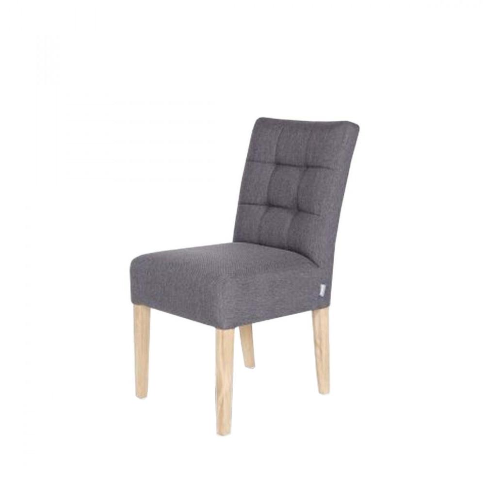chaise capitonn e gris anthracite pauwel par. Black Bedroom Furniture Sets. Home Design Ideas