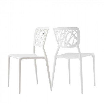 Lot de 2 chaises design Candice