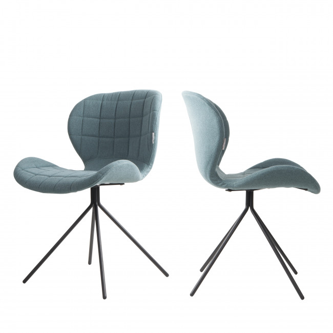 Lot de 2 chaises design OMG grises