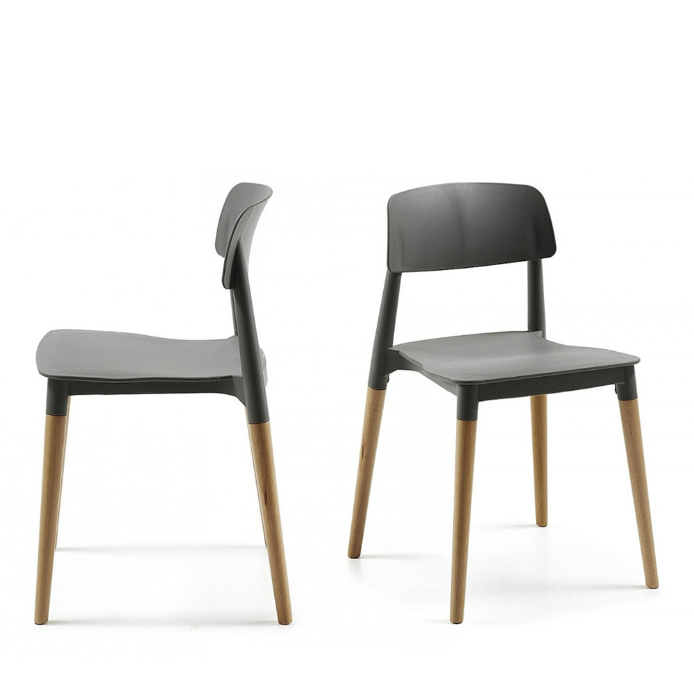 chaise design scandinave blanche ou noire glamwood. Black Bedroom Furniture Sets. Home Design Ideas