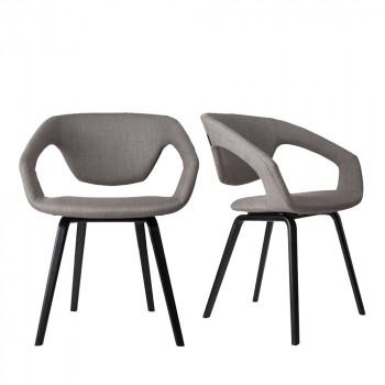 Lot de 2 fauteuils design Flex back Black noir