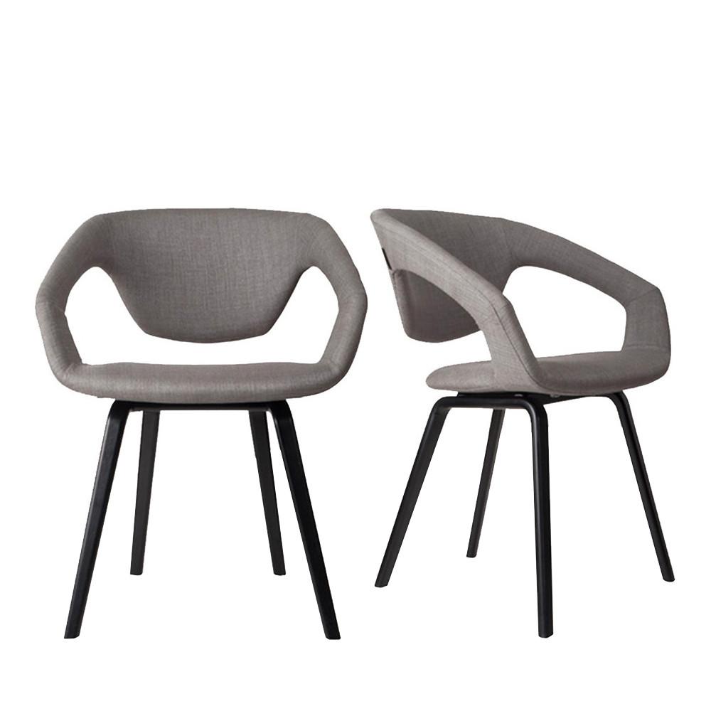 fauteuil design bois et tissu flex back black zuiver. Black Bedroom Furniture Sets. Home Design Ideas