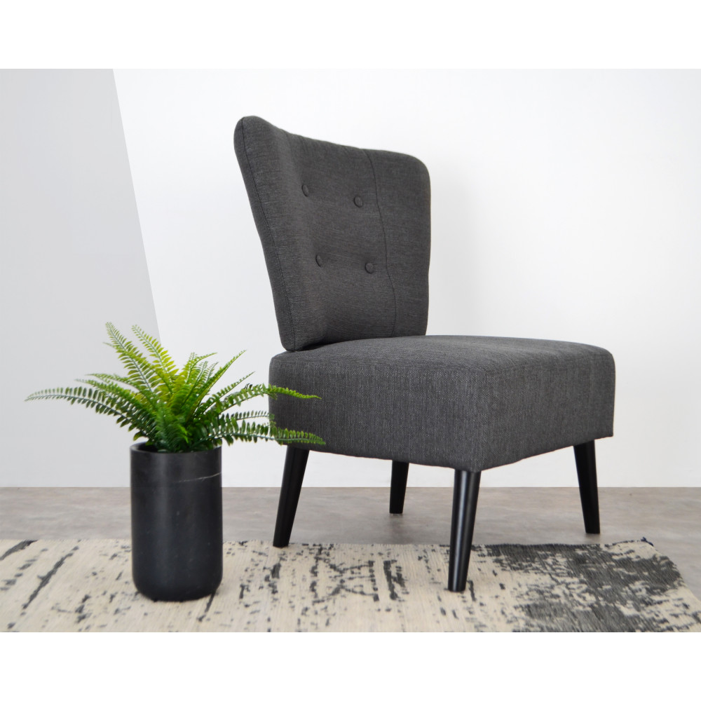 fauteuil lounge en tissu capitonn brighton by drawer. Black Bedroom Furniture Sets. Home Design Ideas
