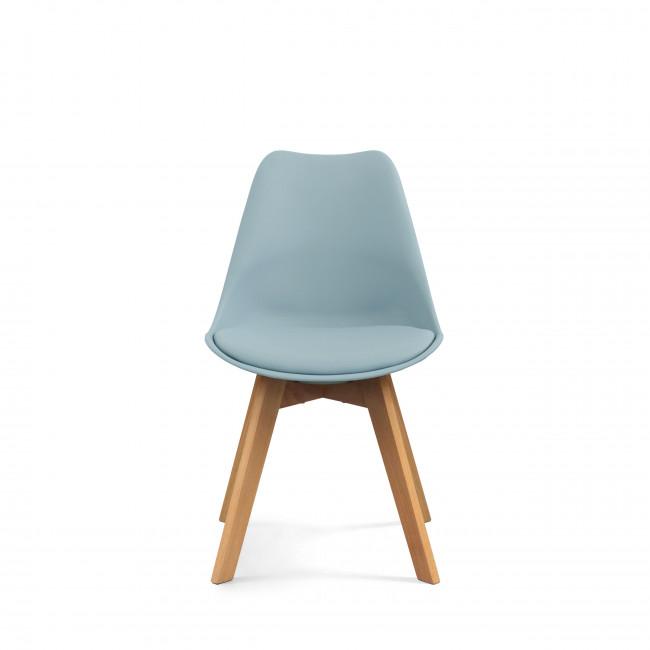 Lot de 2 chaises design Ormond Log bleu