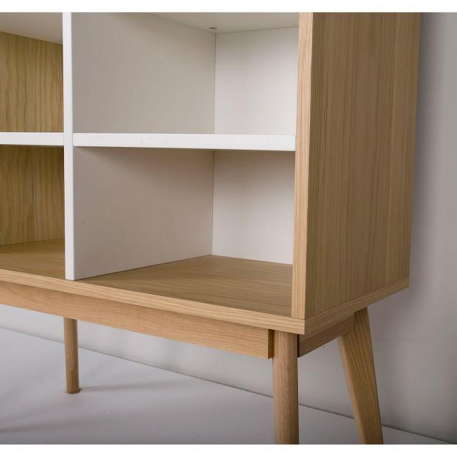 Etagère de rangement  design scandinave 8 niches Skoll blanc
