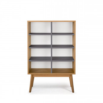Etagère de rangement  design scandinave 8 niches Skoll blanc