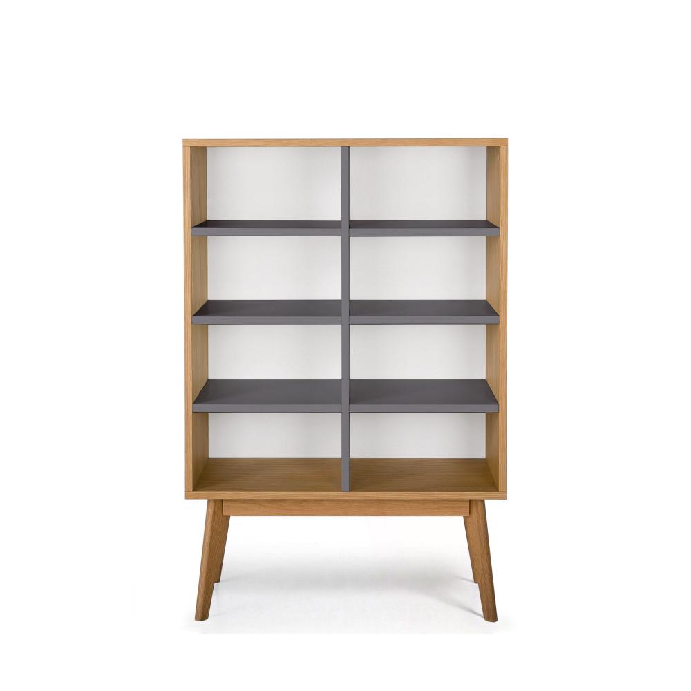biblioth que scandinave en bois 8 niches skoll by. Black Bedroom Furniture Sets. Home Design Ideas