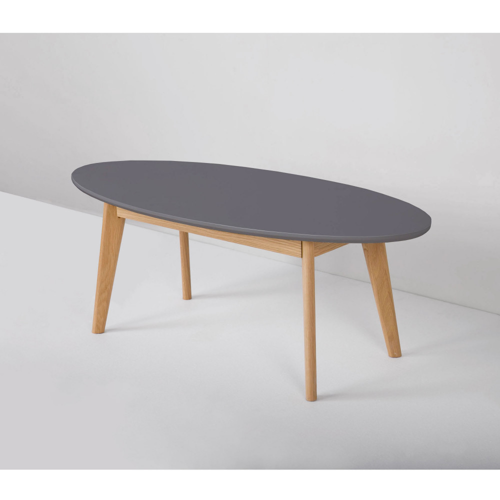 Table basse scandinave ovale skoll by drawer for Table basse design nordique