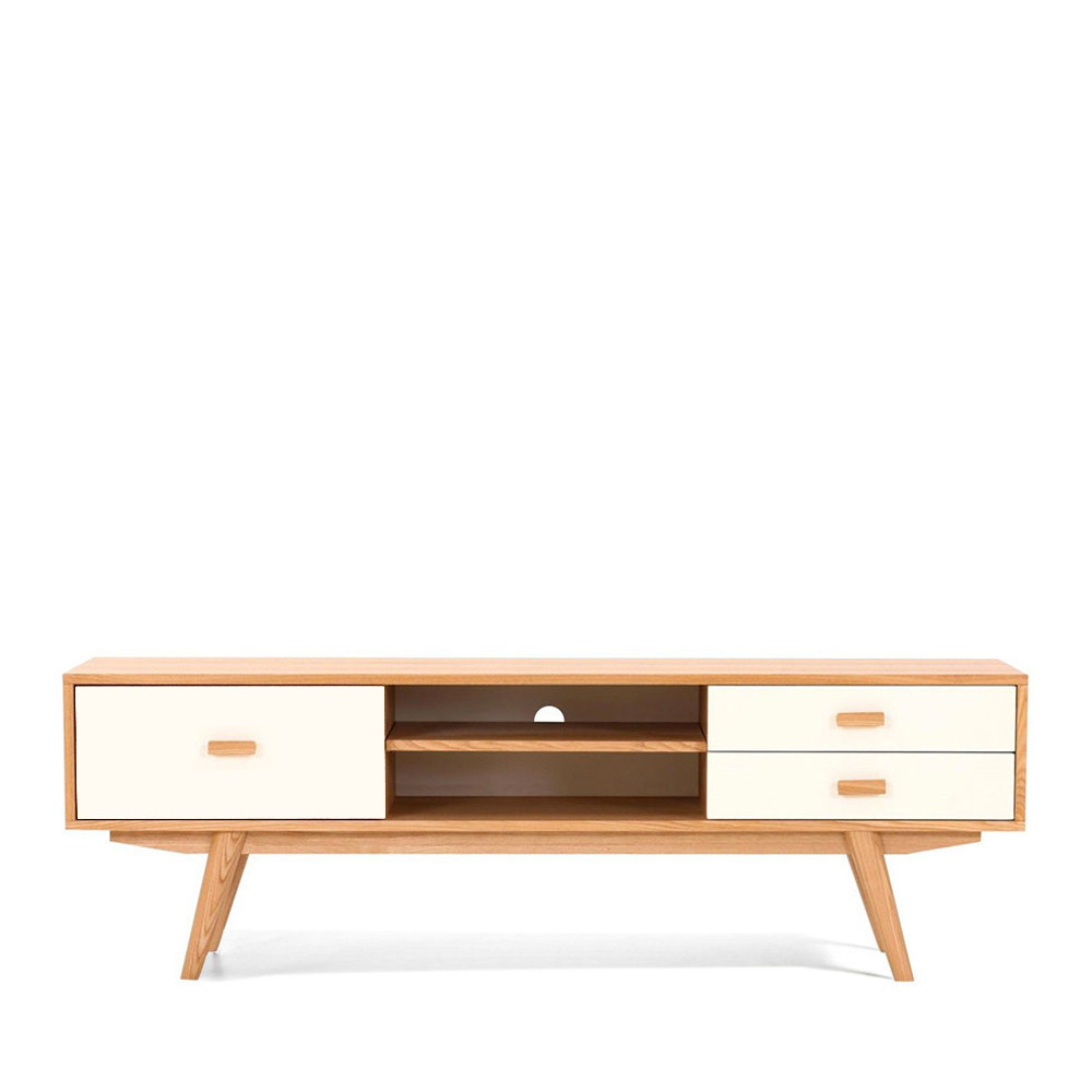 meuble tv scandinave en bois maguro by drawer. Black Bedroom Furniture Sets. Home Design Ideas