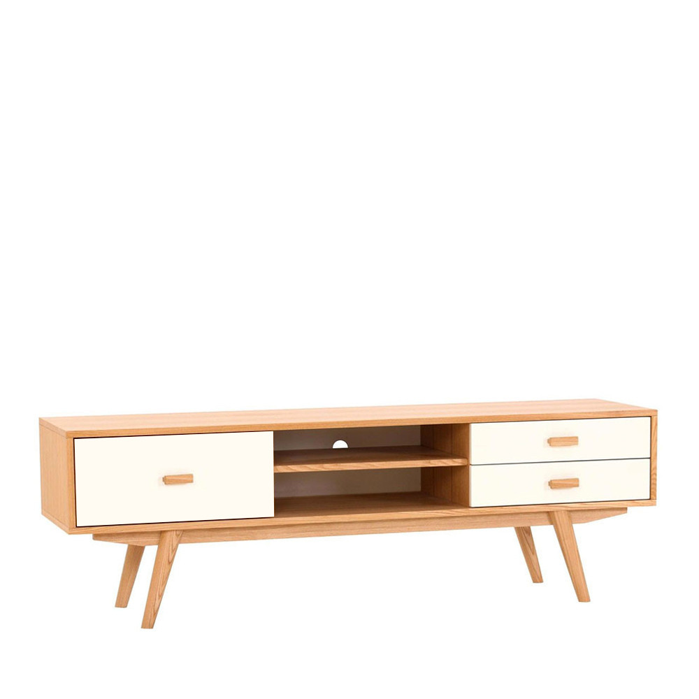 Meuble Tv Scandinave Bois - Meuble TV scandinave en bois Maguro by Drawer
