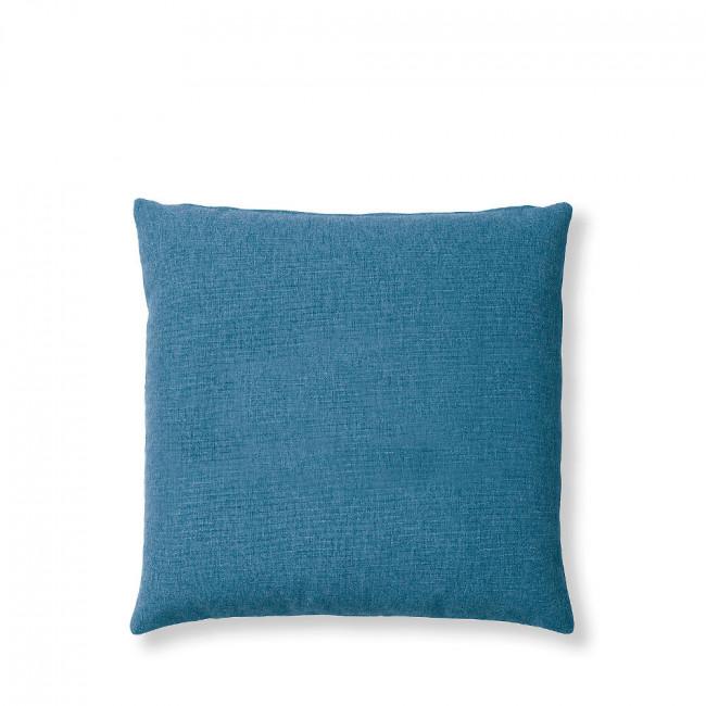 Coussin en tissu uni Mak Bleu