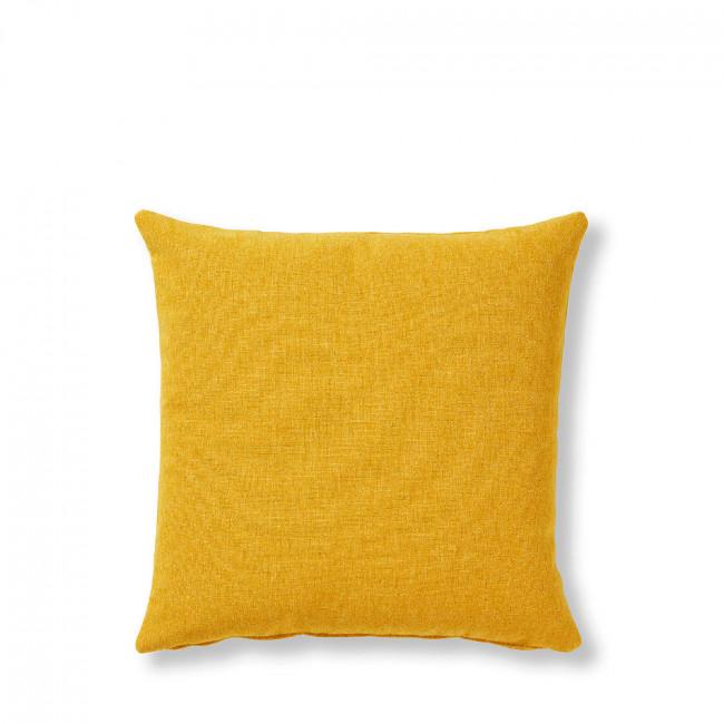 Coussin en tissu uni Mak Jaune moutarde
