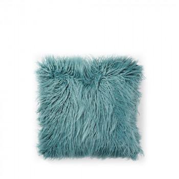 Coussin à poils longs Brock Bleu