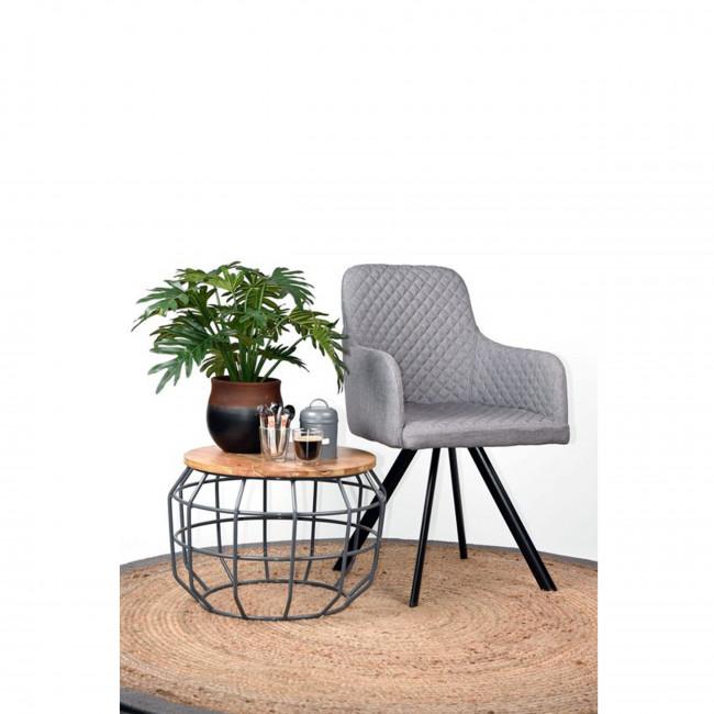 Lot de 2 chaise tissu et métal Tigo Label 51