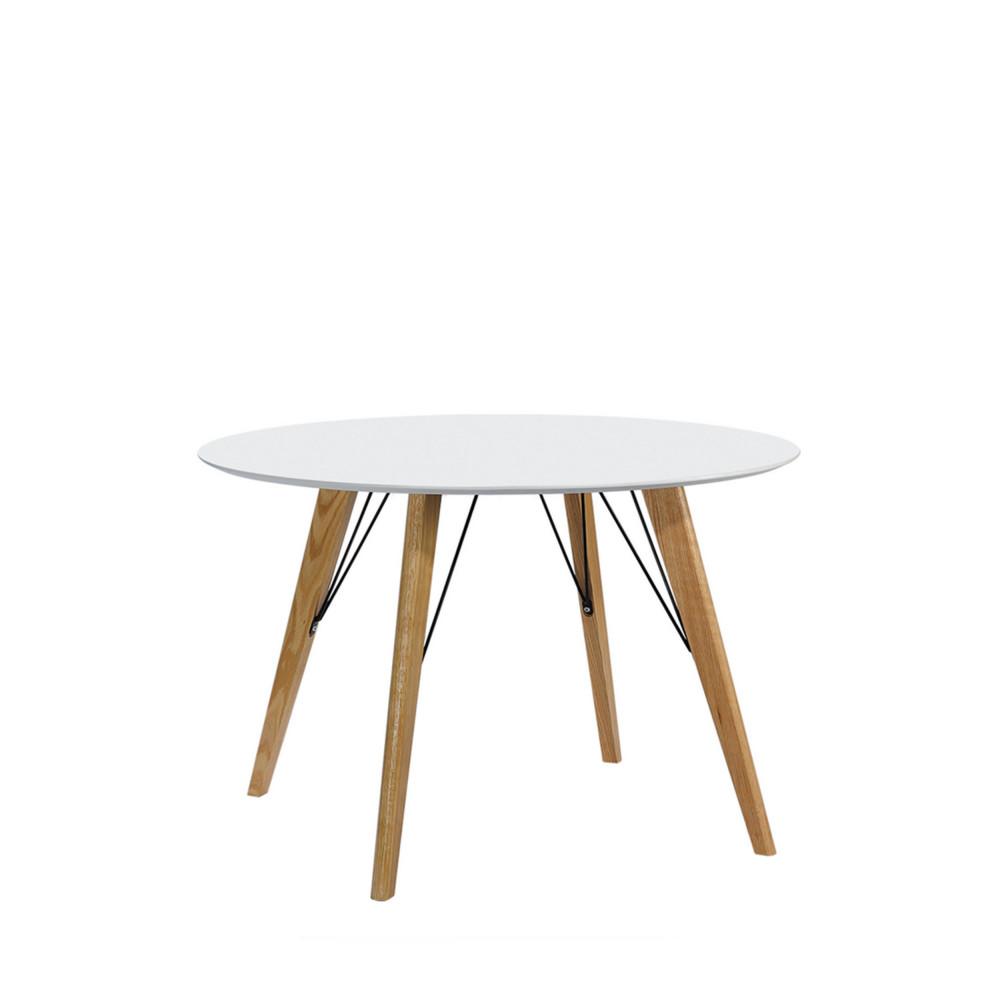 table manger laqu e ronde 100 cirkel drawer. Black Bedroom Furniture Sets. Home Design Ideas