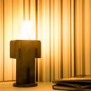Lampe à poser en bois et ampoule vintage Adam