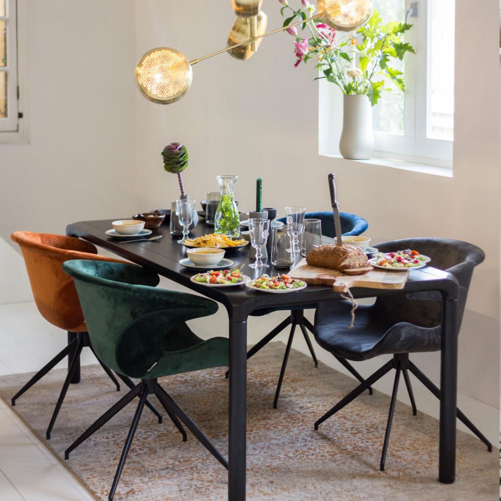 lot de 2 fauteuils velours design mia zuiver - Fauteuil De Table