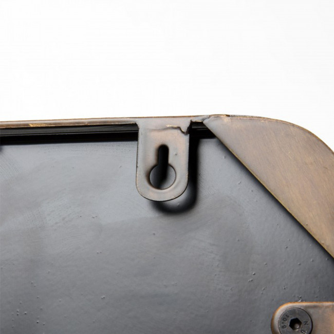 Miroir carré cuivre anse corde Step