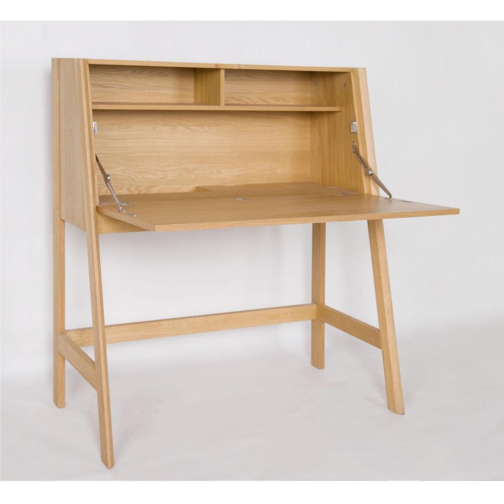 Bureau Secretaire Petit Espace bureau secrétaire en chêne drawer - cordell
