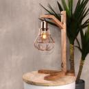 Lampe à poser bois et cuivre Dom Label 51