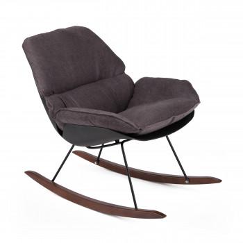 Rocking chair vintage en tissu Buddy