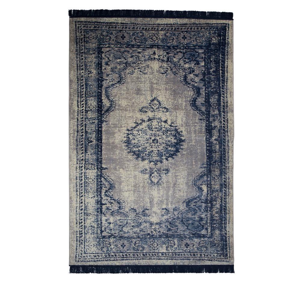 tapis vintage bleu marvel - Tapis Vintage